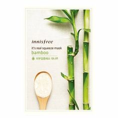 Inninsfree - It's real squeeze Mask Sheet bamboo @ Sheet Happens