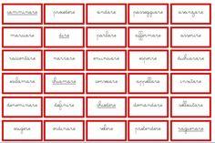 cartellini dei sinonimi per i verbi CORSIVO