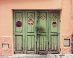 By Honeytree on Etsy - http://www.etsy.com/listing/54823977/celadon-doors-travel-photography-wooden