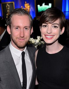 PICTURES | Anne Hathaway attended the Oscars luncheon with her husband, Adam Shulman, on Monday in Beverly Hills.