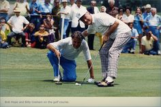 Bob Hope and Billy Graham on the golf course.