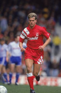Liverpool FC footballer Nick Tanner during a League Division One match against Manchester United at Anfield April 1992 Liverpool won 20 Liverpool Fc, Liverpool Legends, Liverpool Football Club, Manchester United, Running, Photos, Soccer, Pictures, Man United