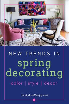 New Trends in Spring Decorating - Get ready for Spring with these new trends in Spring decor! Fresh color, style & decor for a little pick-me-up!  #spring #decorating