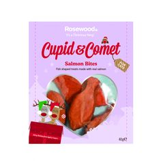 Cupid & Comet Salmon Bites Cat Treats The Pet Warehouse Christmas Gift For You, Christmas Cats, Christmas Presents, Fish Shapes, Cat Treats, Cupid, Your Pet, Salmon