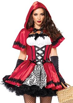 f6af6d993af Leg Avenue Women s 2 Piece Gothic Red Riding Hood Costume...  Halloween