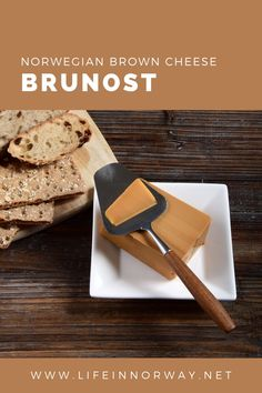 In simplest terms, brown cheese, or brunost as it is written in Norwegian, is a tan-coloured 'whey cheese' with a distinctive caramel flavour. The production process is actually quite simple. The water from the whey of goat's milk is boiled down, which caramelises the sugars. The resulting gloop is left to cool and bingo, you've got yourself some real Norwegian brown cheese.