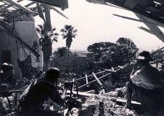 Germans paratrooper in a village in Crete 1941