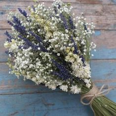Lavender Twist Babys Breath Dried Flower Wedding Bouquet Lavender Twist Babys Breath Dried Flower We Wedding Flower Guide, Diy Wedding Bouquet, Rustic Bouquet, Wedding Flowers, Bridal Bouquets, Baby's Breath Wedding Bouquet, Babies Breath Bouquet, Babies Breath Wedding, Wild Flower Wedding
