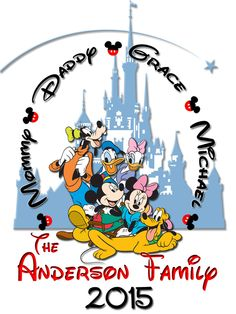 Personalized Disney Vacation Family Shirts T-shirt Mickey Minnie Very Cute! For Robbie and his kids 2016 Walt Disney World Vacation. Disneyland Vacation, Disney Vacation Planning, Disney World Vacation, Disney Vacations, Vacation Ideas, Disney Travel, Family Vacations, Disney World Tips And Tricks, Disney Tips