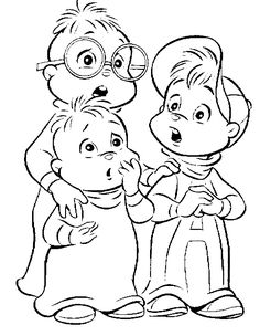 Chipmunks Coloring Page - Print Chipmunks pictures to color at AllKidsNetwork.com