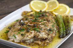 cucina caruso - Part 17 Greek Recipes, Fish Recipes, Seafood Recipes, Cooking Recipes, Healthy Recipes, Sole Meuniere, Food Fantasy, Fish Dishes, Mediterranean Recipes