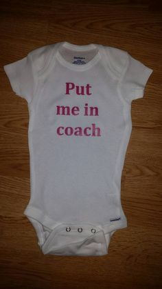 Put me in Coach Sports Onesie by SilverFrogsBoutique on Etsy Soccer Shirts 44a497a1e