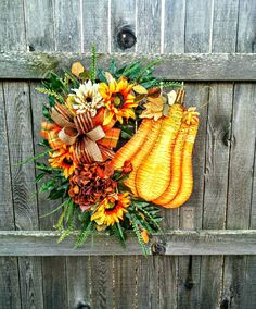 Your place to buy and sell all things handmade Wreaths For Front Door, Door Wreaths, Fall Ribbon Wreath, Tire Craft, Pumpkin Wreath, Fall Door, How To Make Ribbon, Autumn Wreaths, Halloween Season