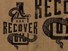 Dribbble - Recover - Snake Oil by Jeremy Paul Beasley — Designspiration
