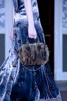 Louis Vuitton velvet and fur