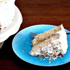Pina Colada LAyer Cake by BakingandCooking