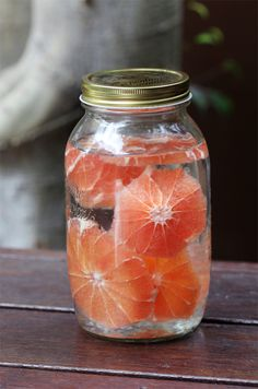 Grapefruit Infused Rum! Can be done with most any fruit/alcohol. Once tried with mango, jalepenos + vodka. Delish.