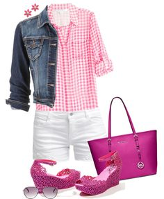 Gingham Shirt Casual Summer Outfit