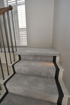 faux silk stair runners Bowloom faux silk carpet, fitted stair runners with binding tape Home Stairs Design, Home Interior Design, House Design, Carpet Staircase, Hallway Carpet, Home Decor Bedroom, Living Room Decor, Hallway Designs, Hallway Ideas