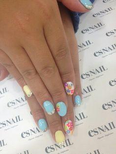 Nail Art - Nail Salon blog ~ AmebaGG daily es nail ... | image of casual pop nail ♪