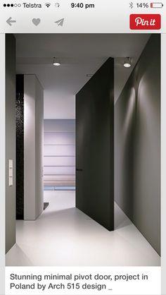 Love door. Wall colour , door colour with white floor