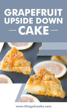 From scratch Grapefruit Upside Down Cake is made with fresh, sweet Florida Grapefruit and a cake batter that results in a soft, fluffy cake. Garnished with fresh chopped basil for complimentary flavor. Guests will love this simple dessert and cake recipe. #cakerecipes #dessertrecipes List Of Desserts, Easy Desserts, Quick Dessert Recipes, Easy Healthy Recipes, Grapefruit Recipes, Simple Dessert, Vanilla Bean Ice Cream, Cake Batter