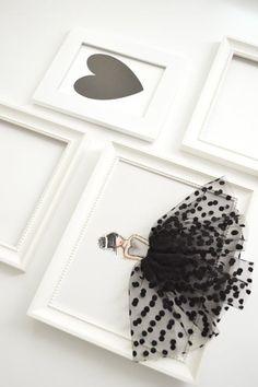 Signora IN nero mano tela dipinta vivaio opera di ShenasiConcept