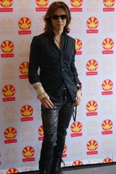 Yoshiki (X Japan). I wonder how he busted his wrist?