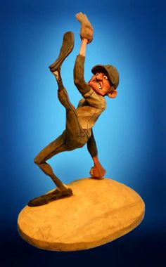 """"""" Fast Ball Joe """" carved by Bob Robertson. this is the best picture I have found. the actual carving is amazing!"""