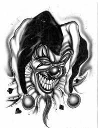 Evil Clown Tattoos, Evil Skull Tattoo, Skull Tattoo Design, Tattoo Design Drawings, Skull Tattoos, Tattoo Sketches, Body Art Tattoos, Sleeve Tattoos, Joker Card Tattoo
