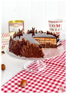 Pastel Euforia de chocolate y caramelo (sin gluten)