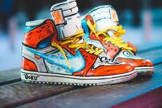 Dragon Ball Z x Air Jordan 1 Off White 'Goku' KamehamehaYou can find Jordans and more on our website.Dragon Ball Z x Air Jorda. Sneakers Mode, Best Sneakers, Custom Sneakers, Custom Shoes, Sneakers Fashion, Shoes Sneakers, Custom Jordan Shoes, Men's Shoes, Nike Fashion