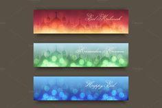 Ramadan Kareem Banners Set by Lianella's Shop on Creative Market