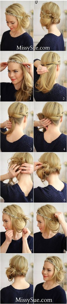 tuck and cover gatsby hair tutorial bmodish Diy Hairstyles, Pretty Hairstyles, Wedding Hairstyles, Gatsby Hairstyles For Long Hair, Flapper Hairstyles, Vintage Hairstyles, Hairstyle Tutorials, Simple Hairstyles, Modern Hairstyles