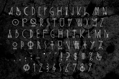 Dark Harbor typeface by Dustin Kemper, via Behance