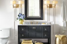 Create & Customize Your Bathrooms Bold Gold Bathroom – The Home Depot. bathroom. home decor and interior decorating ideas.