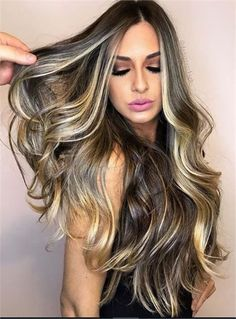 25 Money Pieces Worth Their Weight in Gold - Hair Color - Modern Salon Cabelo Ombre Hair, Balayage Hair, Honey Balayage, Bayalage, Brown Blonde Hair, Brunette Hair, Blonde Honey, Long Brunette, Brunette Color