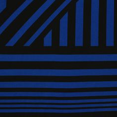 """Royal Blue Black Nautical Flag Stripe Cotton Spandex Knit Fabric - Customer favorite nautical flag stripe design in royal blue and black on a white cotton spandex blend knit. Fabric is soft, with a nice 4 way stretch, light to mid weight.  Smallest stripe measures 1/4"""", largest stripe measures 1"""" (see image for scale).  A versatile fabric great for many uses!  ::  $7.00"""