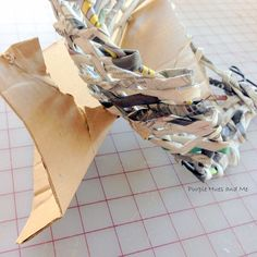 Recycled Newspaper Tubes Tray