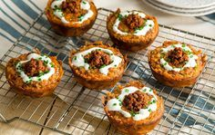 Let's hear it for the breakfast lovers! These Chorizo Hash Brown Cups make a clever presentation for weekend breakfast or brunch! https://www.vvsupremo.com/recipe/chorizo-hash-brown-cups/ #LoveMyQueso
