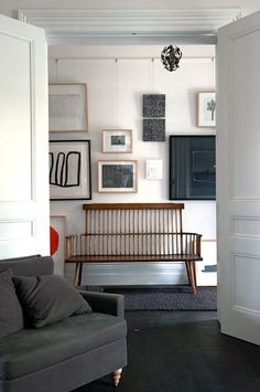 Greg Stirling Stick Back Bench in Victorian Remodel in Melbourne by O'Connor Houle