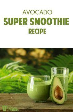 Avocado Super Smoothie Recipe click now for more. Homemade Smoothies, Yogurt Smoothies, Avocado Smoothie, Green Smoothie Recipes, Juice Smoothie, Smoothie Drinks, Healthy Smoothies, Healthy Drinks, Green Smoothies