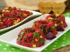 Kırmızı Pancarlı Bulgur Salatası Resimli Tarifi - Yemek Tarifleri