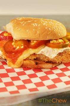 Fry up these Fried Chicken Parm Sandwiches with Pickled Cherry Peppers ...