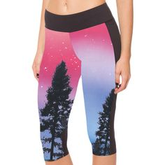 Pink Slimming Trees Printed Pocket Womens Cropped Leggings ($16) ❤ liked on Polyvore featuring pants, leggings, pink, pink crop pants, cropped leggings, slim cropped pants, crop pants and pink trousers