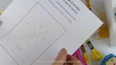 DIY – Carte de vœux à broder – ANGE de NOËL (Modèle à imprimer)