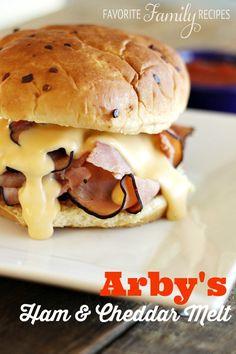 Arbys Ham and Cheddar on @favfamilyrecipz