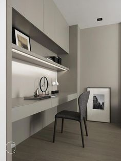 75 Most Favorite Home Workspace Design Inspirations - Proyecto PenHouse - Home Office Study Room Design, Small Room Design, Home Room Design, House Design, Small Home Offices, Home Office Space, Home Office Decor, Home Decor, Office Furniture