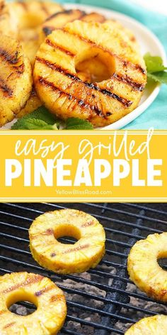 Grilled pineapple transforms fresh pineapple slices into your new favorite grilling side dish or dessert! The simple, sweet glaze becomes caramelized on the grill. You're left with beautiful grill marks, juicy pineapple, and a sweet glaze. #sidedish #grilling #barbecuesides #pineapple Grilled Chicken Kabobs, Grilled Fruit, Barbecue Recipes, Grilling Recipes, Salted Or Unsalted Butter, Grilled Side Dishes, Grilling Sides, Still Tasty, Homemade Caramel Sauce