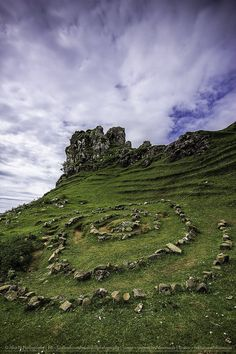 I need to go back and finish exploring the Isle. Castle Ewen in Fairy Glen, Uig, Isle of Skye, Scotland. Oh The Places You'll Go, Places To Travel, Places To Visit, Fairy Glen, Scottish Castles, Scotland Castles, England And Scotland, Scotland Travel, Glasgow Scotland